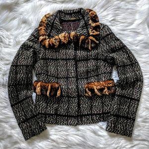 Dolce & Gabbana Fur Trim Jacket